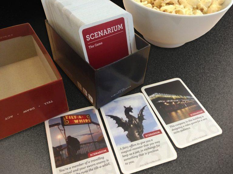 Scenarium game, Scenarium card game, kickstarter funded game